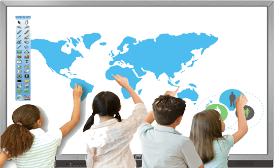10 point touch interactive display,interactive display,interactive flat panel,interactive touchscreen,IQTouch