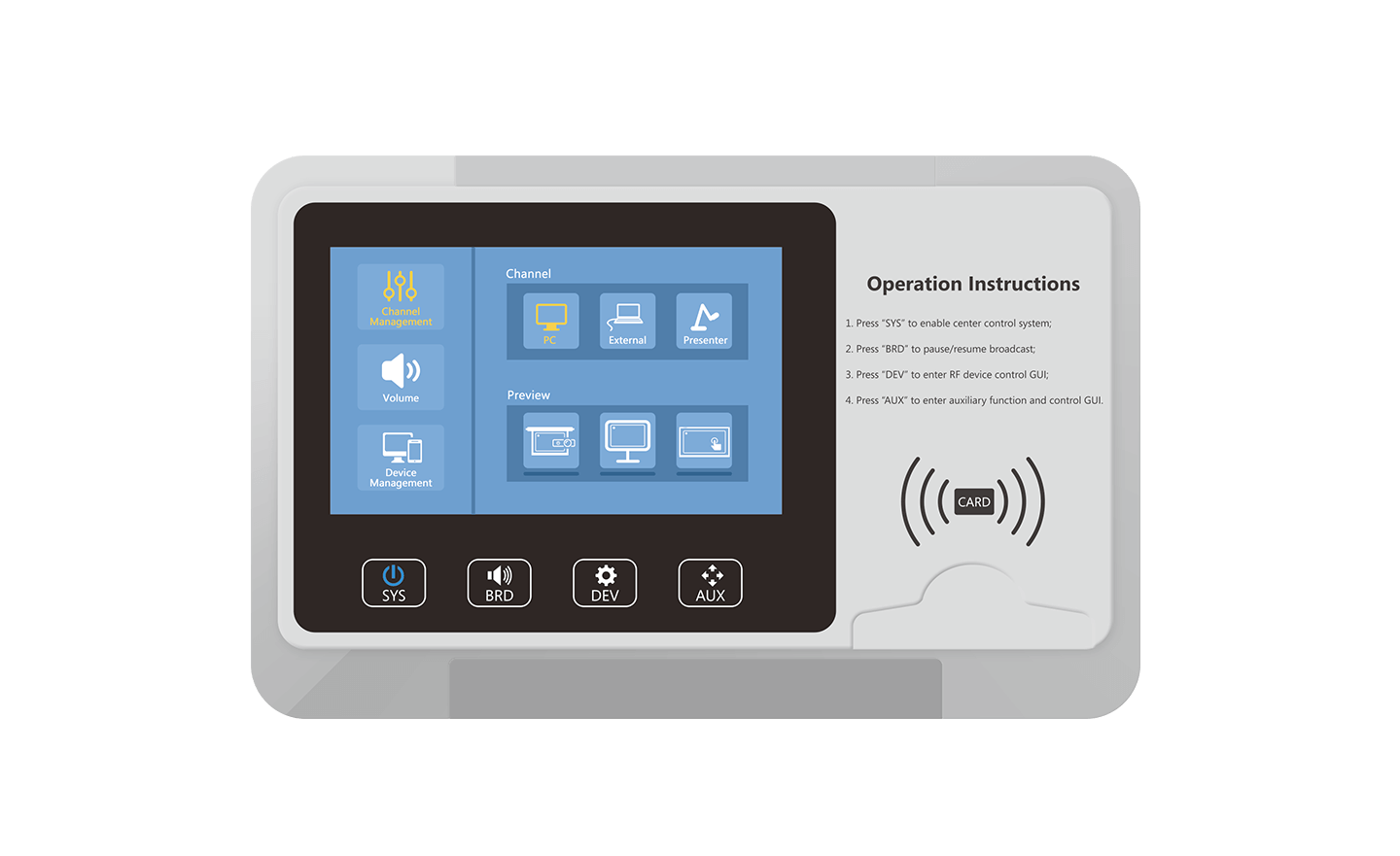 Touch Control Panel, school device management